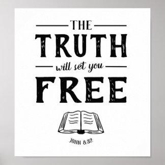 A verdade ajustá-lo-á livre poster da arte