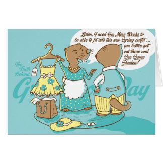 A verdade atrás do cartão do dia de Groundhog