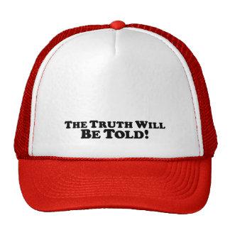 A verdade será dita - básico boné