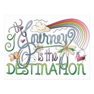 A viagem é o cartão do destino