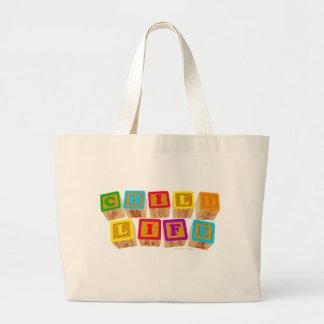 A vida da criança obstrui o totebag bolsas para compras