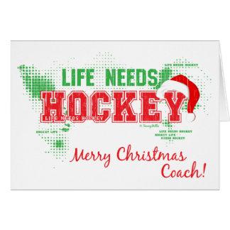 A vida do Natal precisa o cartão do treinador de