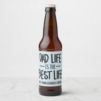 A vida do pai é as melhores etiquetas da cerveja