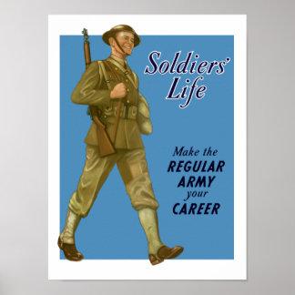 A vida do soldado - faça ao exército profissional  poster