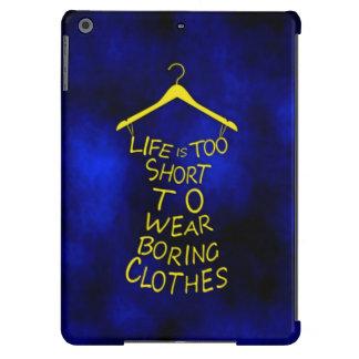 A vida é à caixa curta do ar do ipad azul/amarelo capa para iPad air