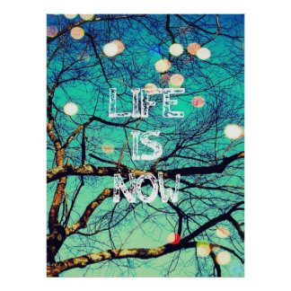 A vida é agora poster pôster