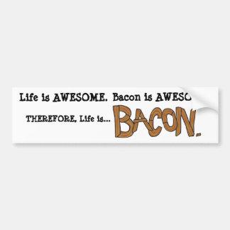 A vida é bacon. Autocolante no vidro traseiro Adesivo