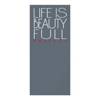 A vida é bonita 10.16 x 22.86cm panfleto