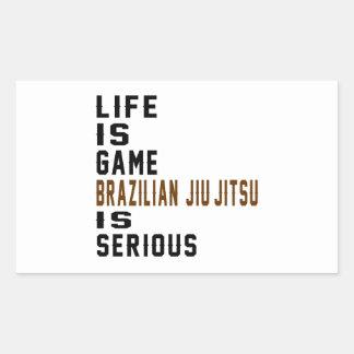 A vida é brasileiro que do jogo Jiu-Jitsu é sério Adesivo Retangular