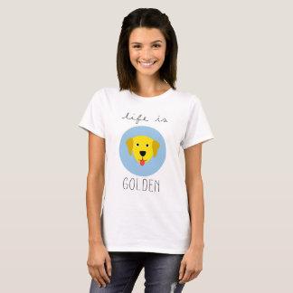 A vida é camisa do T das mulheres douradas do