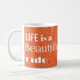 """A """"vida é caneca de café de um passeio bonito"""""""