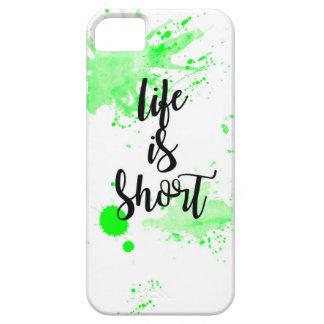 a vida é capa de telefone curta