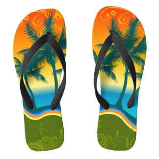 A vida é chinelos largos de uma correia da praia