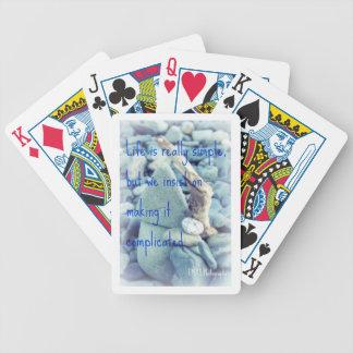 A vida é citações realmente simples em cartões de baralho de truco