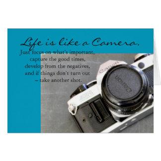 A vida é como um cartão da câmera