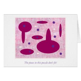 A vida é como um quebra-cabeça cartão comemorativo
