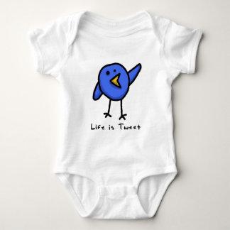 """A """"vida é Creeper infantil do Tweet"""" Body Para Bebê"""