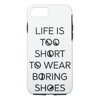 A vida é demasiado curta vestir capa de telefone