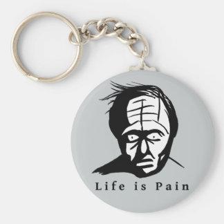 A vida é dor - anel chave de compressão chaveiro