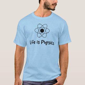 A vida é física camiseta