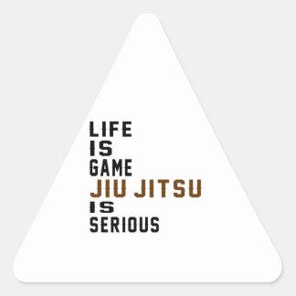 A vida é jogo Jiu-Jitsu é séria Adesivo Triangular