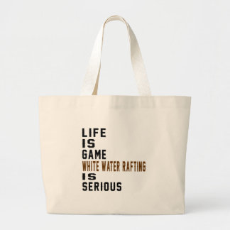 A vida é jogo que transportar da água branca é sacola tote jumbo
