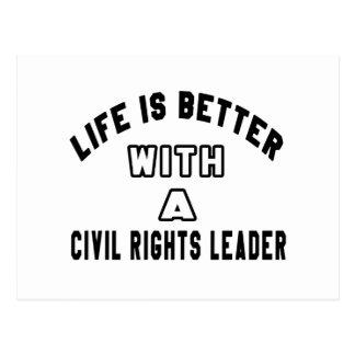 A vida é melhor com chefes dos direitos civis cartão postal