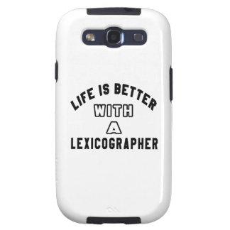 A vida é melhor com um lexicógrafo capa galaxy s3