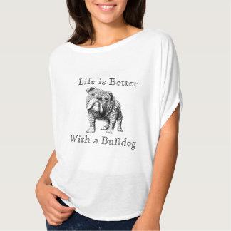 A vida é melhor com uma camisa das senhoras do