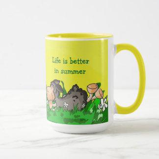 A vida é melhor na caneca do verão