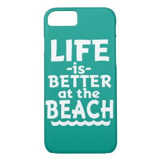 A vida é melhor na praia - capa de telefone