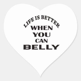 A vida é melhor quando você pode dança do ventre adesivo coração