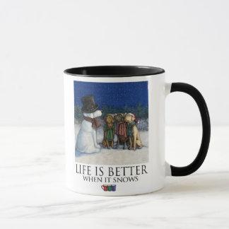 A vida é melhores quando neva - Retrievers de Caneca