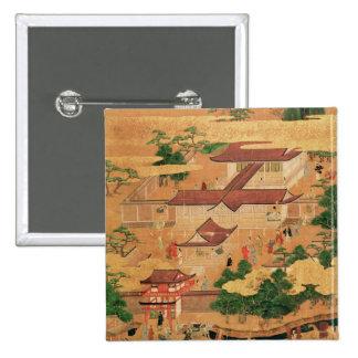 A vida e os passatempos da corte japonesa, Tosa Bóton Quadrado 5.08cm