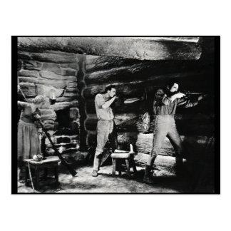A vida e os tempos de Daniel Boone Cartão Postal