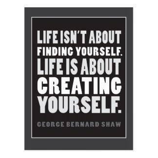 A vida é sobre criar-se cartão das citações