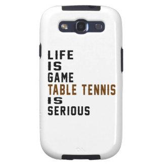 A vida é ténis de mesa do jogo é séria capinhas samsung galaxy s3
