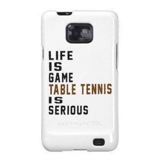 A vida é ténis de mesa do jogo é séria capa galaxy SII