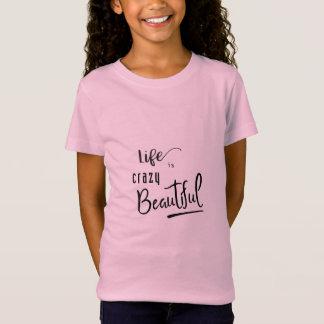 A vida é texto bonito louco das citações camiseta