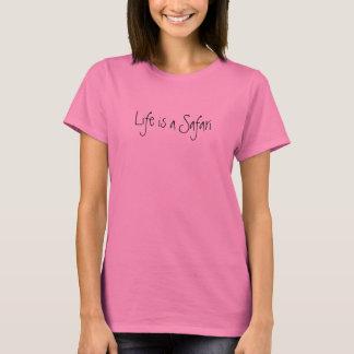 A vida é um rosa do safari camisetas