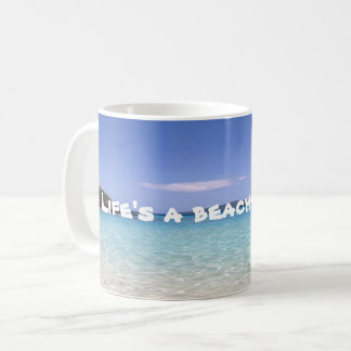 A vida é uma caneca da praia