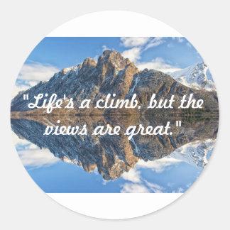 A vida é uma etiqueta da escalada