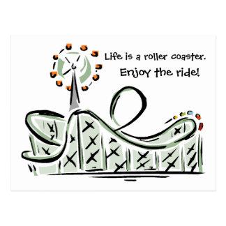 A vida é uma montanha russa. Aprecie o passeio! Cartão Postal