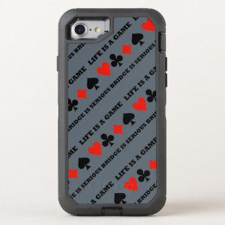 A vida é uma ponte do jogo é ternos sérios do capa para iPhone 8/7 OtterBox defender