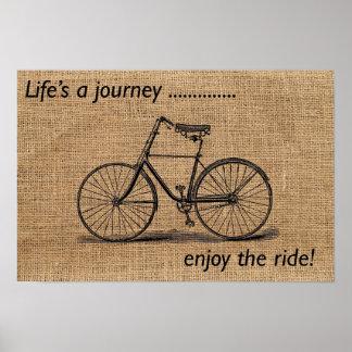 A vida é uma viagem… aprecia o passeio! poster