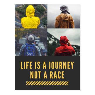 A vida é uma viagem não um cartão da divisa da