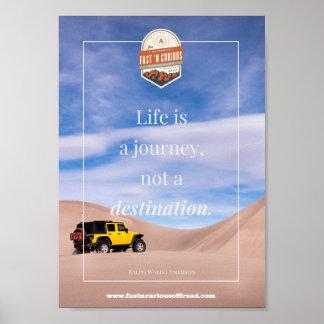 A vida é uma viagem - poster