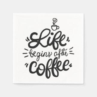 A vida engraçada começa após o guardanapo do café