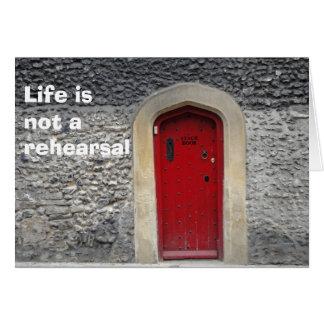 A vida não é um cartão do ensaio