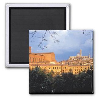 A vila de Tuscan do Sienna, Italia Ímã Quadrado